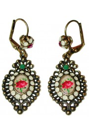 Michal Negrin Victorian Rose Cameo Earrings