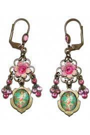 Michal Negrin Cupid Cameo Earrings