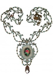 Michal Negrin Rose Cameo Necklace