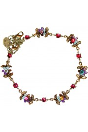 Michal Negrin Multicolor Tiedye Floral Anklet