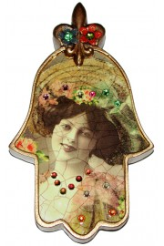 Michal Negrin Victorian Woman Hamsa