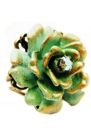 Michal Negrin Green Large Rose Ring