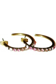 Michal Negrin Pink Peach Hoop Earrings