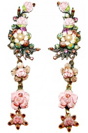 Michal Negrin Floral Clip Earrings
