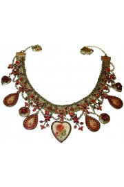 Michal Negrin Red Hearts Lockets Necklace