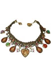 Michal Negrin Multicolor Angel Hearts Lockets Necklace
