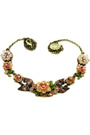 Michal Negrin Painted Roses Necklace