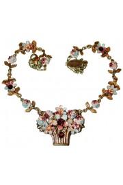 Michal Negrin Autumn Flower Basket Necklace