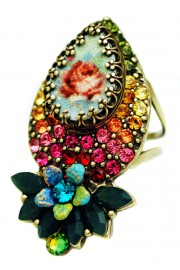 Michal Negrin Multicolor Rose Cameo Ring