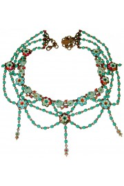 Michal Negrin Multicolor Turquoise Beaded Necklace