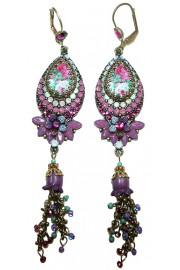 Michal Negrin Purple Cameo Earrings