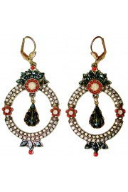 Michal Negrin Coral Icy Cream Earrings