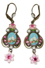 Michal Negrin Doves Cameo Earrings
