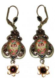 Michal Negrin Bronze Cherubs Cameo Earrings