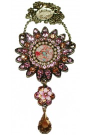 Michal Negrin Lilac Peach Sun Necklace