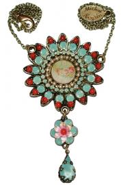 Michal Negrin Vintage Style Sun Necklace