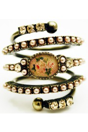 Michal Negrin Roses Cameo Spiral Ring