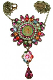 Michal Negrin Multicolor Sun Necklace