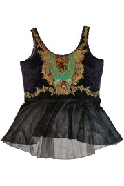 Michal Negrin Victorian Roses Ruffles Top