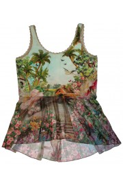 Michal Negrin Victorian Fantasy Ruffles Top