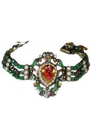 Michal Negrin Antique Green Pearl Bracelet