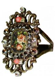 Michal Negrin Antique Roses Cameo Ring