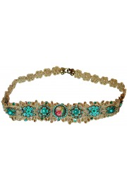 Michal Negrin Turquoise Lace Headband