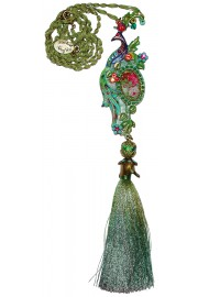 Michal Negrin Multicolor Peacock Necklace