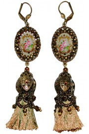 Michal Negrin Bronze Tassel Earrings