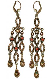 Michal Negrin Antique Bronze Chandelier Earrings