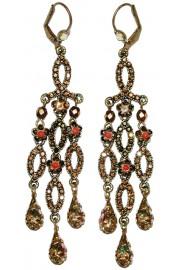 Michal Negrin Antique Bronze Chandelier Earrings