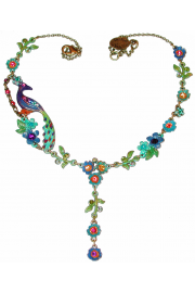 Michal Negrin Peacock Floral Necklace