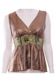 Michal Negrin Gold Cami top