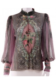 Michal Negrin Purple Victoriana Blouse