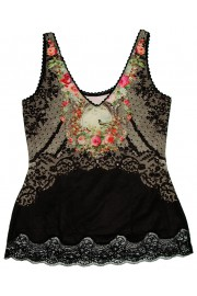 Michal Negrin Victorian Roses Lace Cami