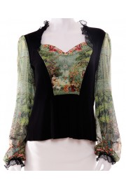 Michal Negrin Victoriana Panel Blouse