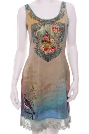 Michal Negrin Victorian Lace Crystals Dress