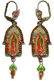 Michal Negrin Christian Iconography  Hamsa Earrings