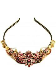 Michal Negrin Pink Crystals Tiara Crown