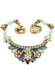 Michal Negrin Multicolor Crest Necklace