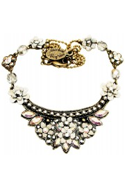Michal Negrin Silver White Crest Necklace