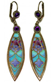 Michal Negrin Vitrage Inspired Earrings