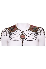 Michal Negrin Collar Neck Shoulders Runway Piece Necklace