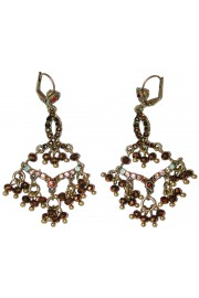 Michal Negrin Bronze Crystal Beads Earrings