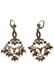 Michal Negrin Bronze Crystal Beads Earrings