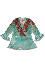 Michal Negrin Velvet Roses Shirt