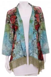 Michal Negrin Velvet Roses Kimono