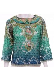 Michal Negrin Velvet Roses Collar Shirt
