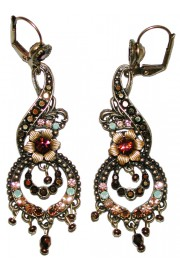 Michal Negrin Bronze Ornate Boho Earrings