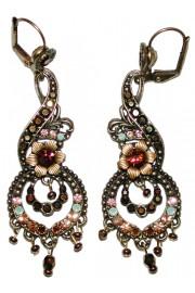 Michal Negrin Bronze Ornate Boho Earrings